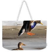 Ducking Around Weekender Tote Bag