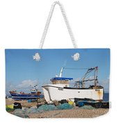 Dungeness Fishing Boats Weekender Tote Bag