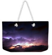 Dying Storm Cells With Fantastic Lightning Weekender Tote Bag