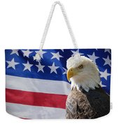 Eagle And Flag Weekender Tote Bag