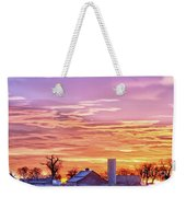 Early Country Morning Sunrise Weekender Tote Bag