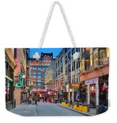 East Fourth Street In Cleveland Weekender Tote Bag