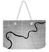 Edmonton Street Map - Edmonton Canada Road Map Art On Colored Ba Weekender Tote Bag