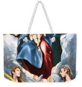 El Greco's Madonna And Child With Saint Martina And Saint Agnes Weekender Tote Bag