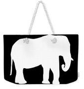 Elephant In Black And White Weekender Tote Bag