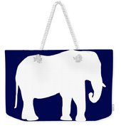 Elephant In Navy And White Weekender Tote Bag
