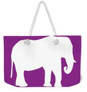 Elephant In Purple And White Weekender Tote Bag