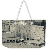 Elevated View Of The Western Wall Weekender Tote Bag