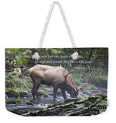 Elk Drinking Water From A Stream Weekender Tote Bag