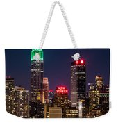Empire State Building On Saint Patrick's Day Weekender Tote Bag by Mihai Andritoiu