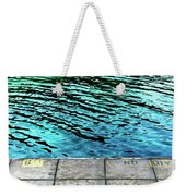 Empty Pier And River Water Weekender Tote Bag