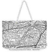 England Railroad Map Weekender Tote Bag