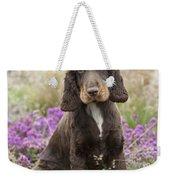 English Cocker Spaniel Puppy Weekender Tote Bag
