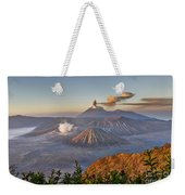 eruption at Gunung Bromo Weekender Tote Bag