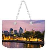 Evening Lights Weekender Tote Bag