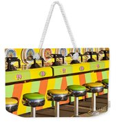 Evergreen State Fair Midway Game With Coloful Stools And Squirt  Weekender Tote Bag