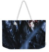 Evil Man Hiding In Silence At Dark Forest  Weekender Tote Bag
