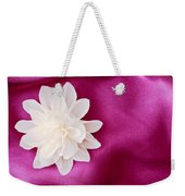 Fabric Flower Weekender Tote Bag