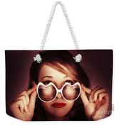 Face Of Cool Fashion Woman In Retro Summer Love Weekender Tote Bag