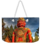 Faces Of Buddha Weekender Tote Bag by Adrian Evans