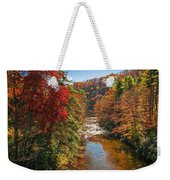 Fall Along The Linville River Weekender Tote Bag