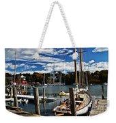 Fall In The Harbor Weekender Tote Bag