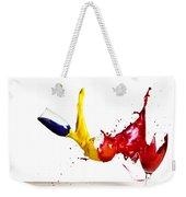 Falling Glasses Of Paint Weekender Tote Bag