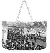 Fans Leaving Yankee Stadium. Weekender Tote Bag
