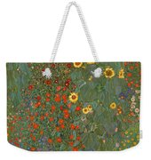 Farm Garden With Sunflowers Weekender Tote Bag
