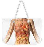 Female Body With Bone Skeleton Weekender Tote Bag