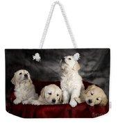 Festive Puppies Weekender Tote Bag