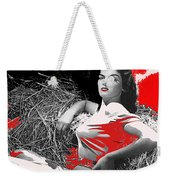 Film Homage Jane Russell The Outlaw 1943 Publicity Photo Photographer George Hurrell 2012 Weekender Tote Bag