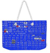 Film Homage License To Kill 1989 License Plates Ghost Town Crested Butte Colorado 1968-2012 Weekender Tote Bag