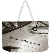 Financial Statement On My Desk Weekender Tote Bag