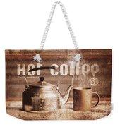 Fine Art Coffee Shop Tin Sign Insignia Weekender Tote Bag