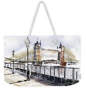 Fine Art Drawing The Tower Bridge In London Uk Weekender Tote Bag