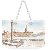 Fine Art Landscape Sketch Of Stockholm Sweden  Weekender Tote Bag