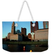 Fire On The River Weekender Tote Bag