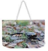 Fire Salamander Fog Droplets Weekender Tote Bag