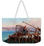 Fishermen Bringing In The Catch Weekender Tote Bag