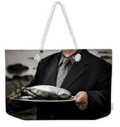 Fishing And Consumption Weekender Tote Bag