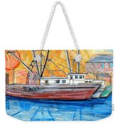 Fishing Trawler Weekender Tote Bag