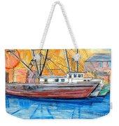 Fishing Trawler Weekender Tote Bag