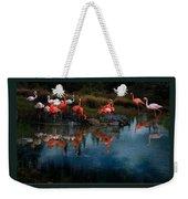Flamingo Convention Weekender Tote Bag by Melinda Hughes-Berland