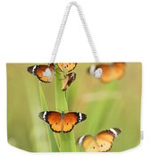 Flock Of Plain Tiger Danaus Chrysippus Weekender Tote Bag by Alon Meir