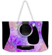 Floral Abstract Guitar 17 Weekender Tote Bag
