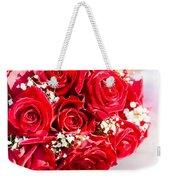Floral Rose Boquet Held By Bride Weekender Tote Bag