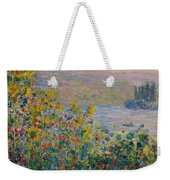 Flower Beds At Vetheuil Weekender Tote Bag