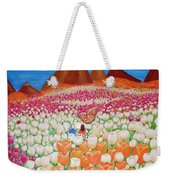 Flowers And Fields Alive With Thy Joy Weekender Tote Bag