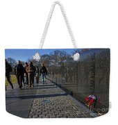 Flowers Left At The Vietnam War Memorial Weekender Tote Bag